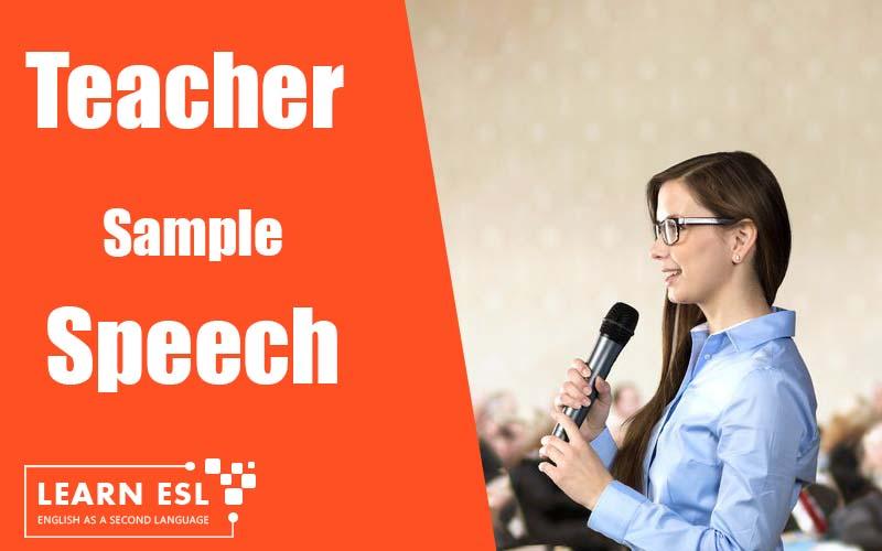 Annual Day Speech Sample for Teachers