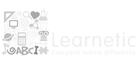 Learnetic Gray Shades Logo