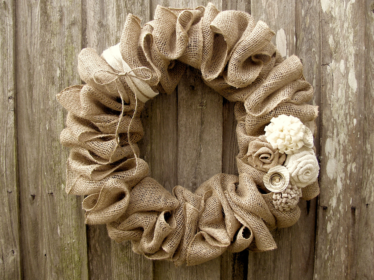 How To Make A Burlap Wreath Learn How To