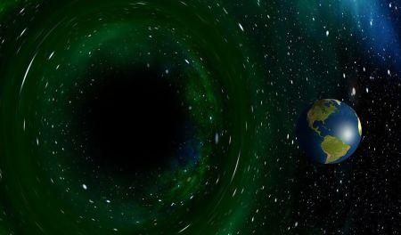 black hole solar system