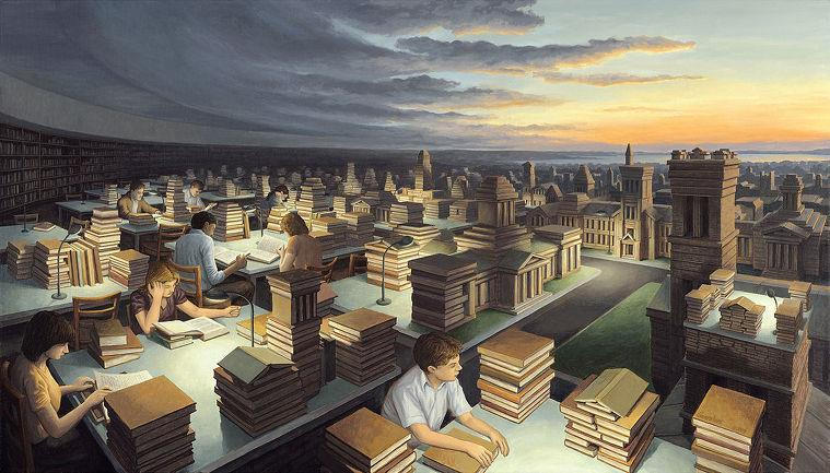 incredible optical illusion paintings by rob gonsalves learning mind