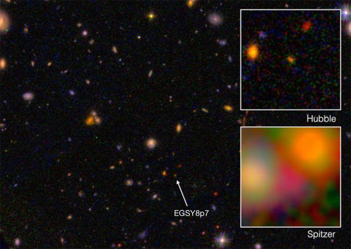 the farthest galaxy EGS8p7