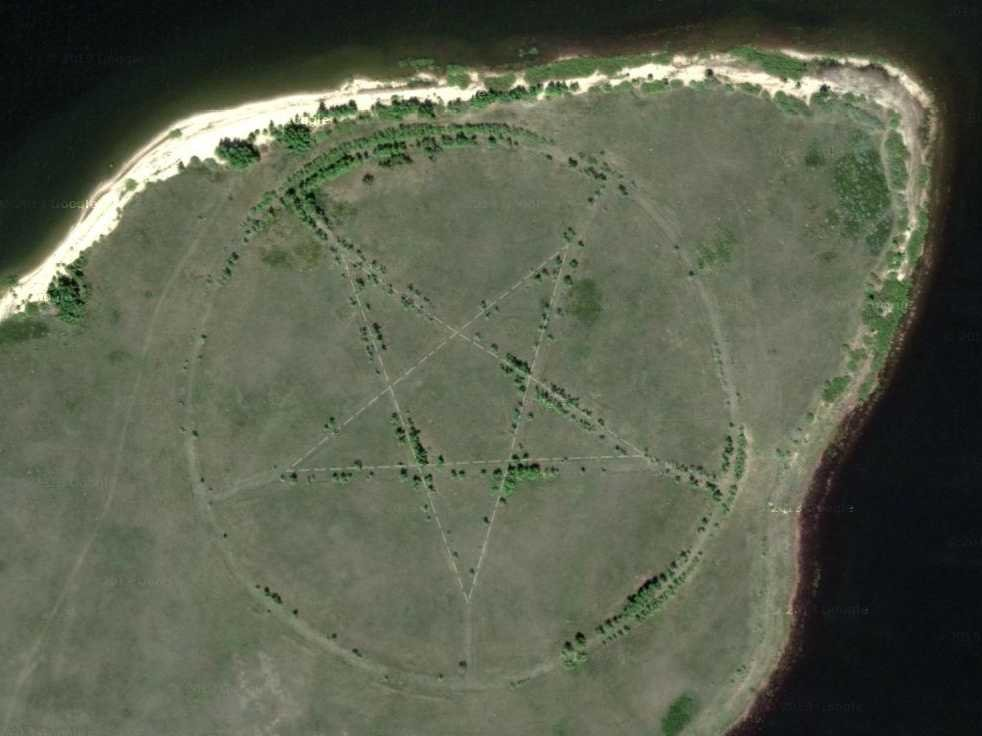 Google Earth Pentagram