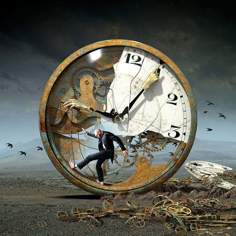 surreal illustrations igor morski time