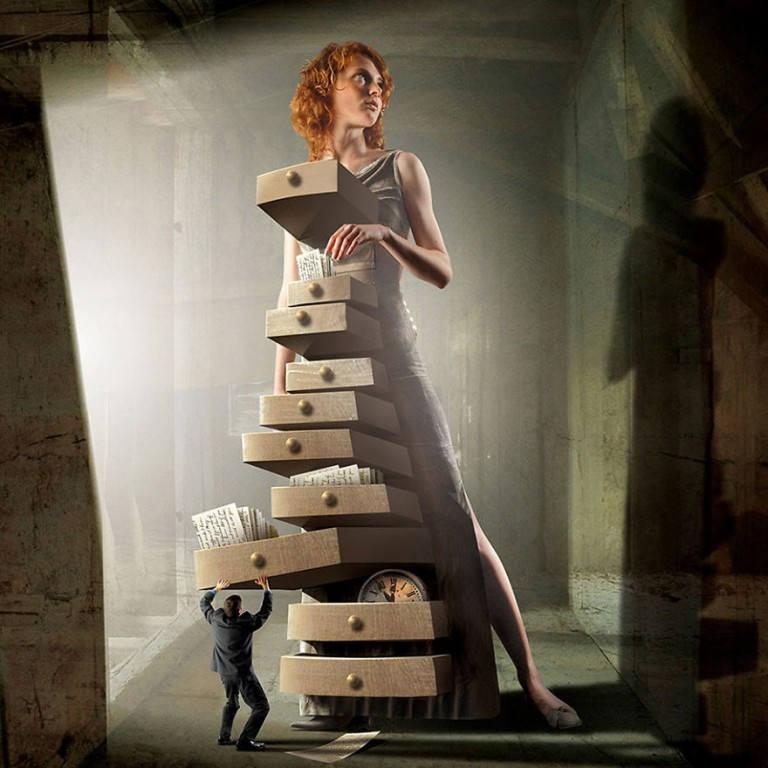 surreal illustrations igor morski woman