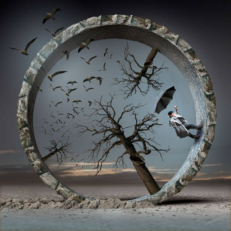 surreal illustrations igor morski wheel