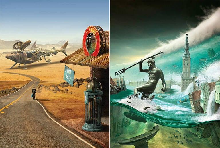 surreal illustrations igor morski flood
