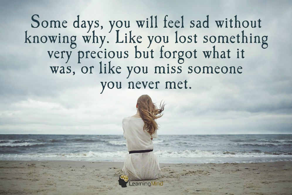 How can you miss someone you never met