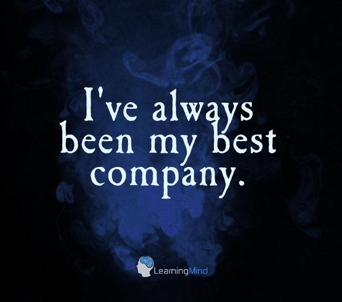 I've always been my best company