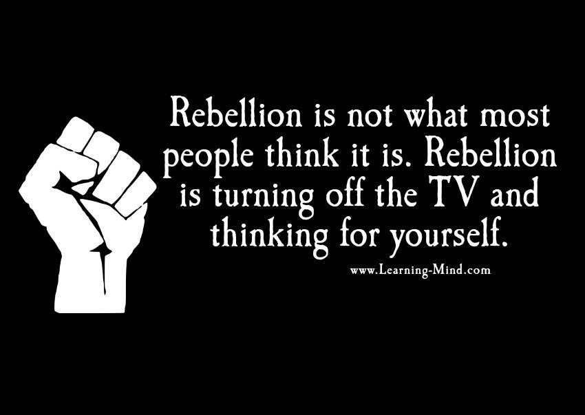 rebelling against modern society