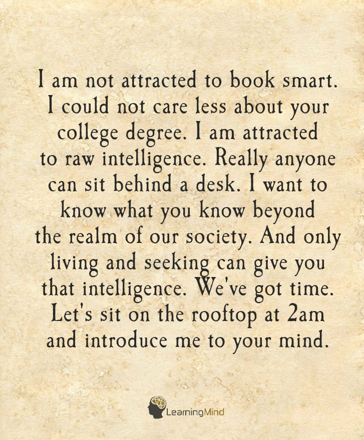 attracted to book smart