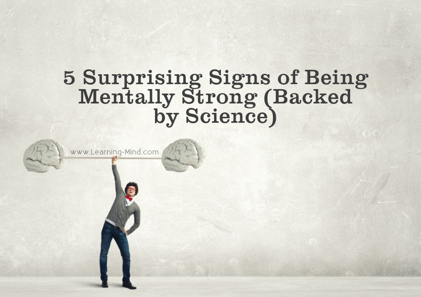 mentally strong signs