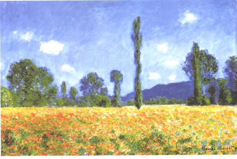 Monet_-_Mohnfeld art styles