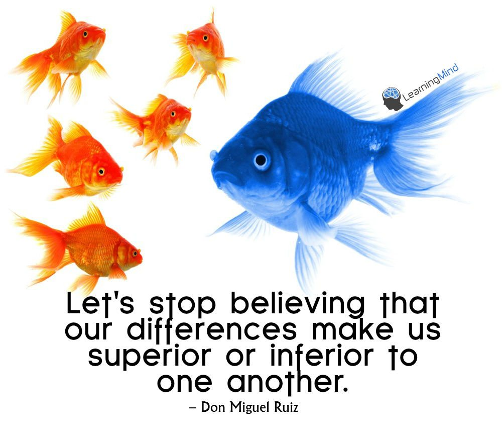 Let's stop believing that our differences make us superior to inferior to one another.