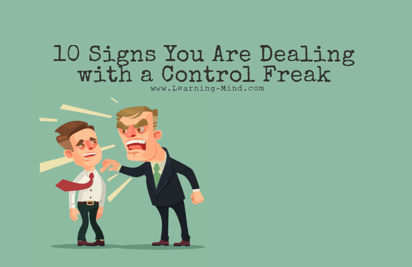 10 signs youre dating a control freak Letters like these come in to our ask the therapist column every week: my  boyfriend freaks out if i go out with my friends for an evening -- even though he.