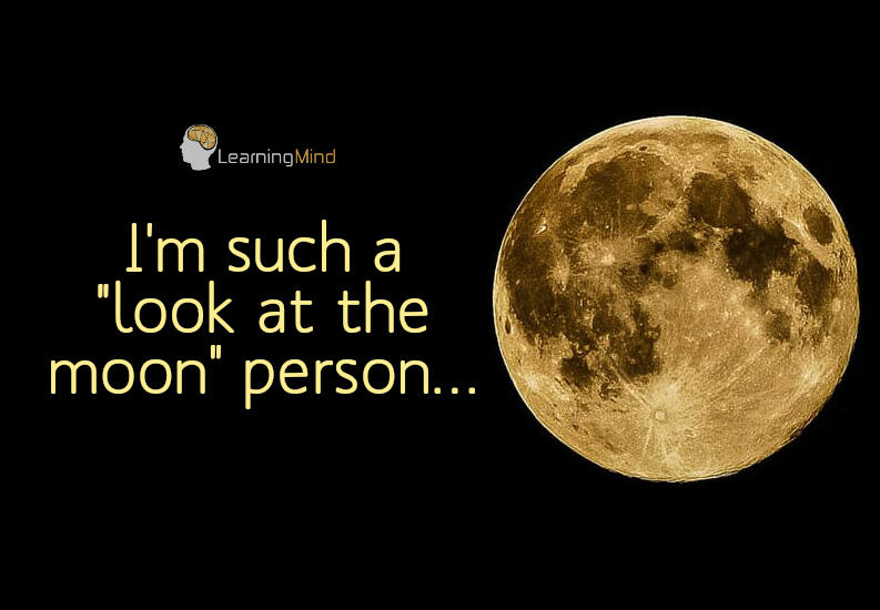 I'm such a look at the moon person