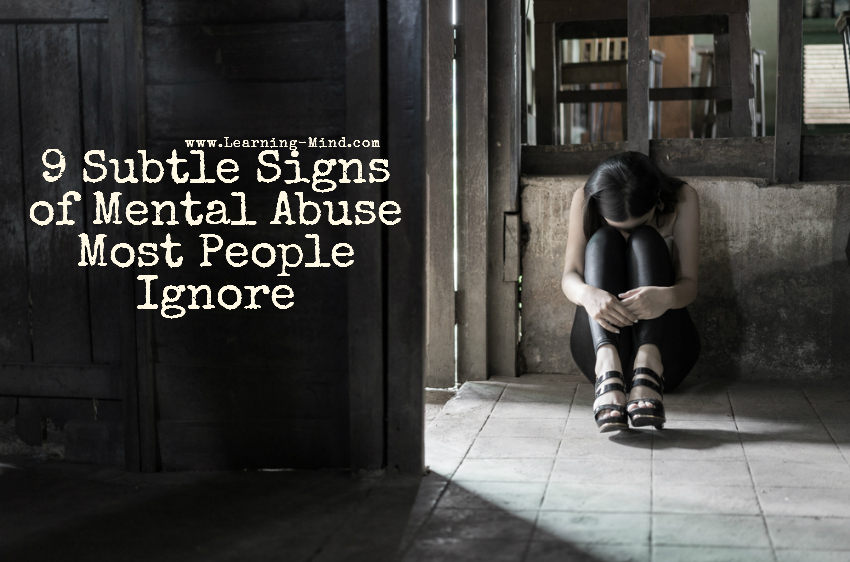 signs of mental abuse