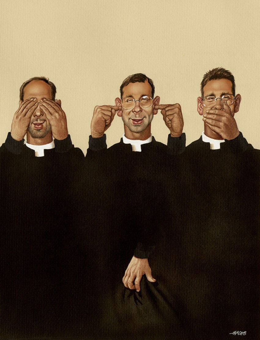 Realistic Drawings by Gerhard Haderer religion