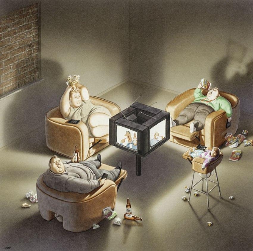 Realistic Drawings by Gerhard Haderer tv