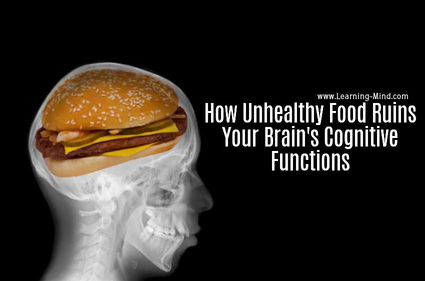 unhealthy food brain