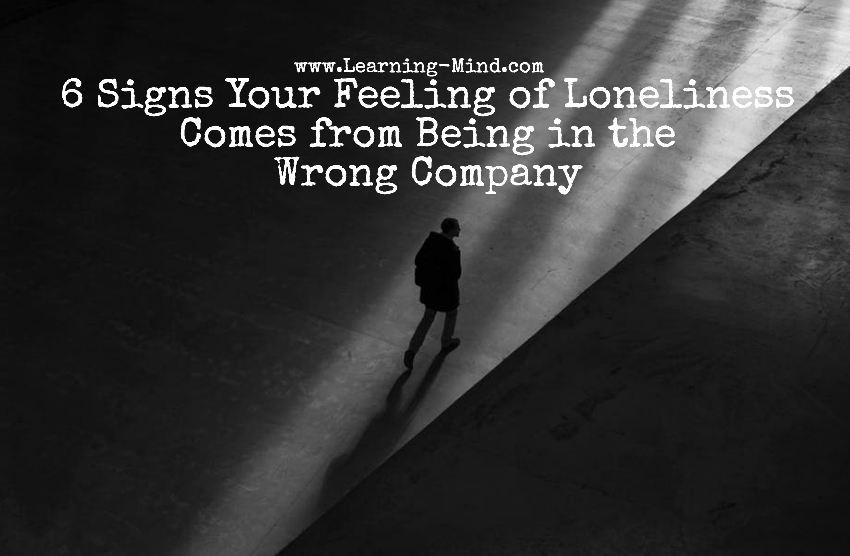 feeling of loneliness wrong company
