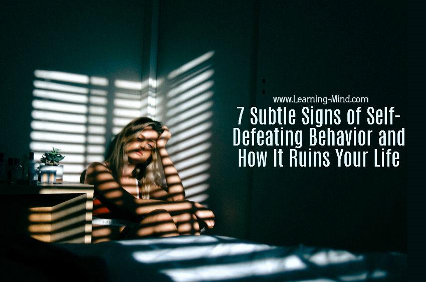 self-defeating behavior
