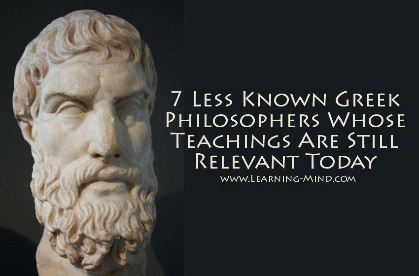 less-known greek philosophers