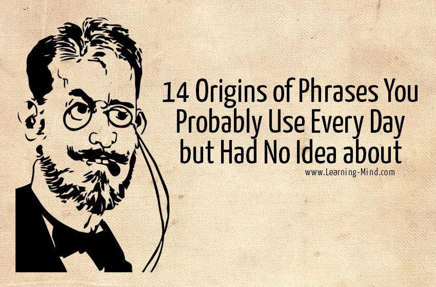 origins of phrases history