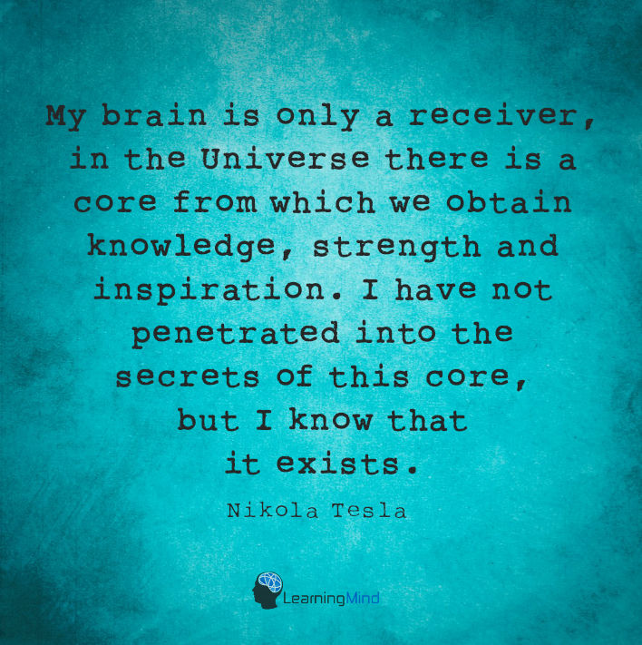 My brain is only a receiver