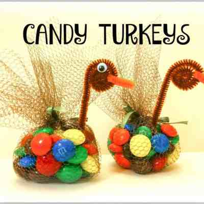 Thanksgiving candy turkeys