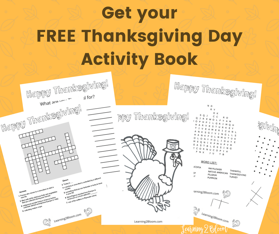 Free Thanksgiving Day activity book