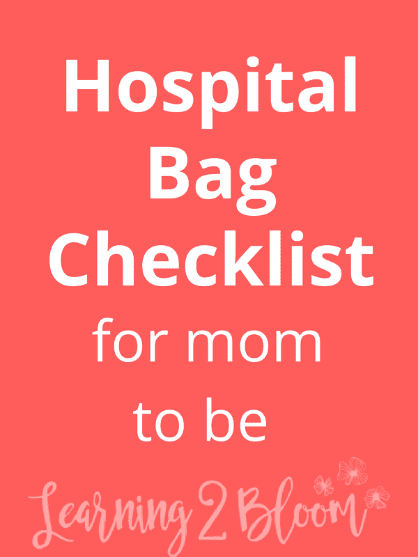What to pack in your hospital bag- Hospital bag checklist for single moms