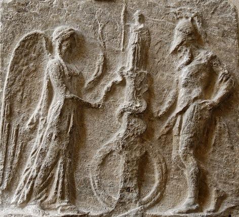 Trojan Palladium with Nike and a Warrior