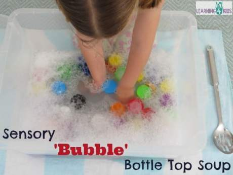 Sensory Bubble Bottle Top Soup