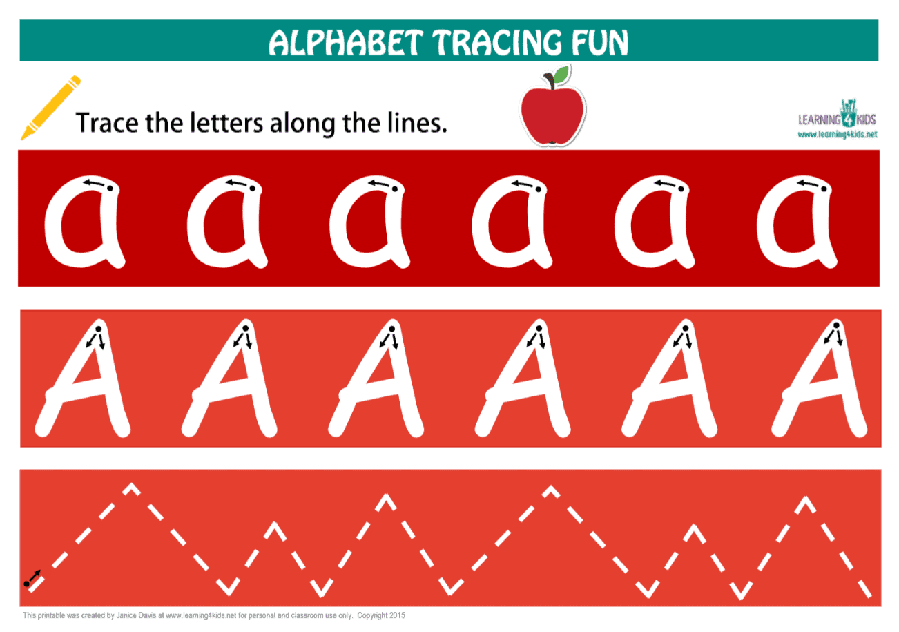 Alphabet Letters Tracing Mats Standard Print