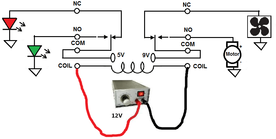 How To Connect A Dpdt Relay In A Circuit