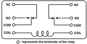 DPDT Relay Wiring Diagram