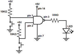 How to Build a NAND Gate Logic Circuit Using a 4011 Chip