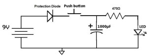 How to Use a Charged Capacitor to Light an LED