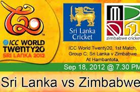 Sri Lanka vs Zimbabwe Live Streaming 2012 T20 World Cup 1st Match
