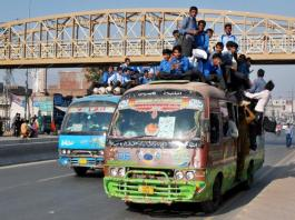 Public Transport Less for Students in Lahore