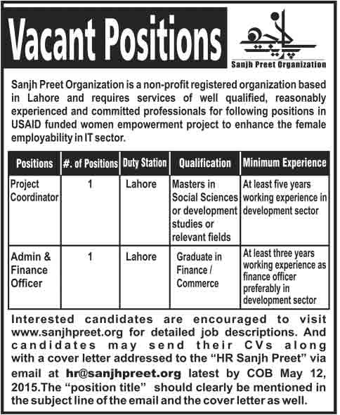 Sanjh-Preet-Organization-Jobs