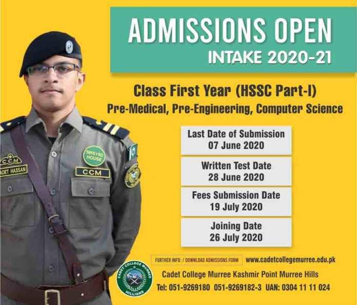 Cadet-College-Murree-Admission-2020