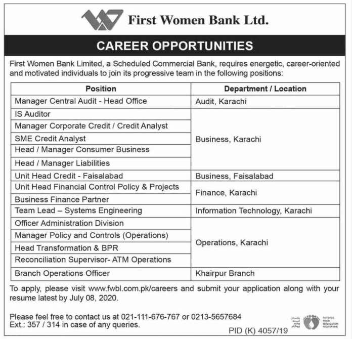 First-Bank-Jobs-2020-Pakistan