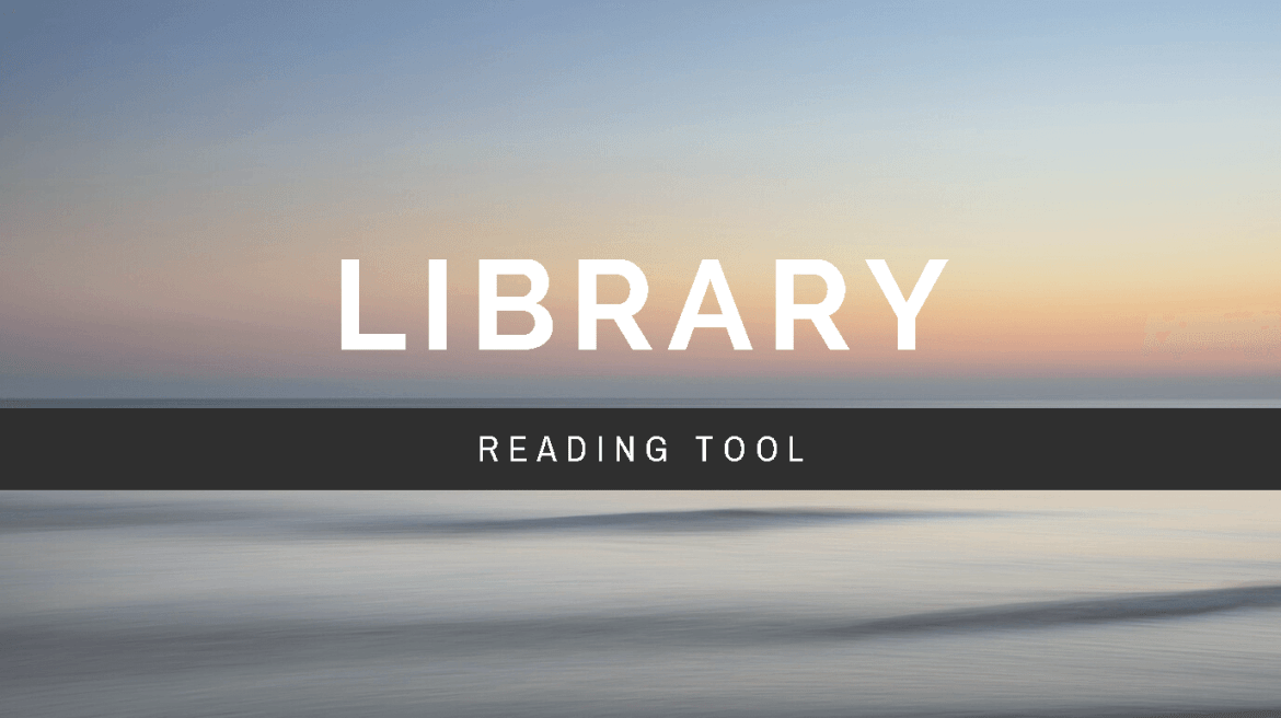 Library Reading Tool Banner