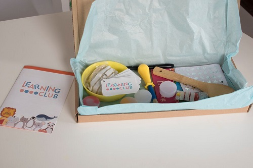 Learning Club Monthly subscription box from Learning club
