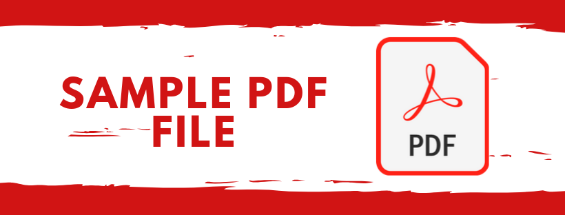 Sample pdf Files for Testing