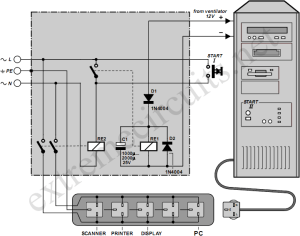 Automatic Mains Disconnect Circuit Diagram