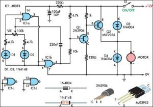Two Basic Motor Speed Controllers Circuit Diagram