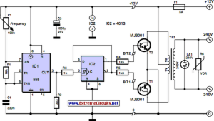 Cheap 12V to 220V Inverter Circuit Diagram